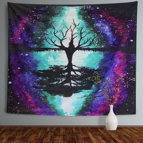 Sinonarui Tapestry Psychedelic Moon Tapestry Forest Colorful Wall Hanging Tapestry for Bedroom Living Room Dorm College Indie Room Decor