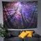 Sinonarui Blue Starry Stars Tapestry Psychedelic Forest Night Sky Tapestry Wall Hangings Beautiful Galaxy Tapestry for Home Decor Bedroom Living Room