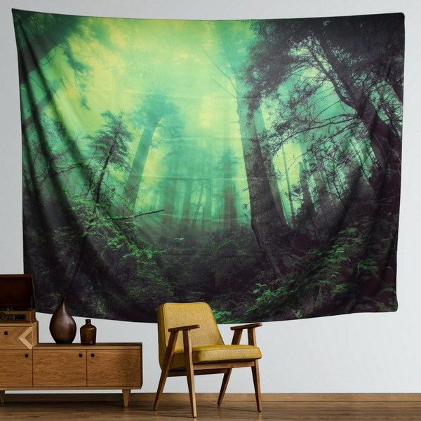 Sinonarui Home Tapestry Wall Hanging Nature Art Polyester Fabric Tree Theme, Wall Decor For Dorm Room, Bedroom, Living Room, drop shipping
