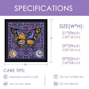 Sinonarui Artistic Butterfly Tapestry Wall Hanging Nature Home Decorations For Living Room Bedroom Dorm Decor Drop Shipping
