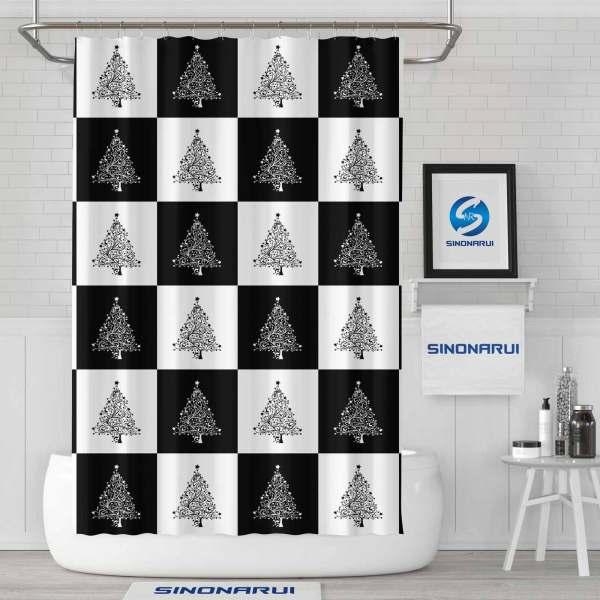 Sinonarui Shower Curtain European Style Fashion Decoration