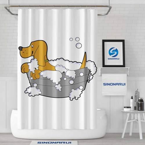 Sinonarui Cartoon Dog Cute Morden Fashion Shower Curtain