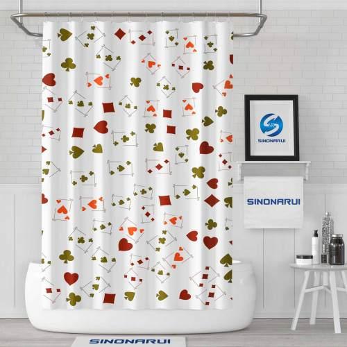 Sinonarui Poke Modern Fashion Shower Curtain Home Decor