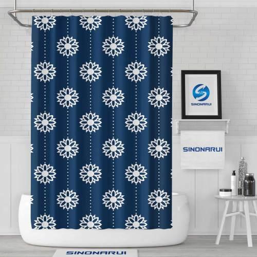Sinonarui Flower Pattern Fashion Shower Curtain Home Decor