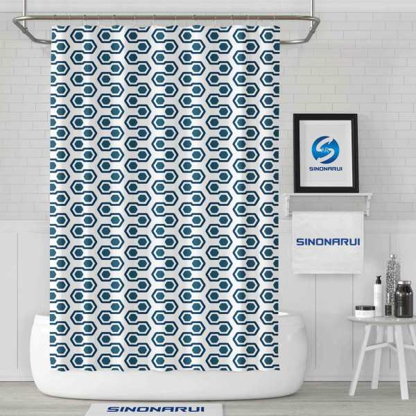 Sinonarui Geometric Pattern Fashion Shower Curtain Home Decor