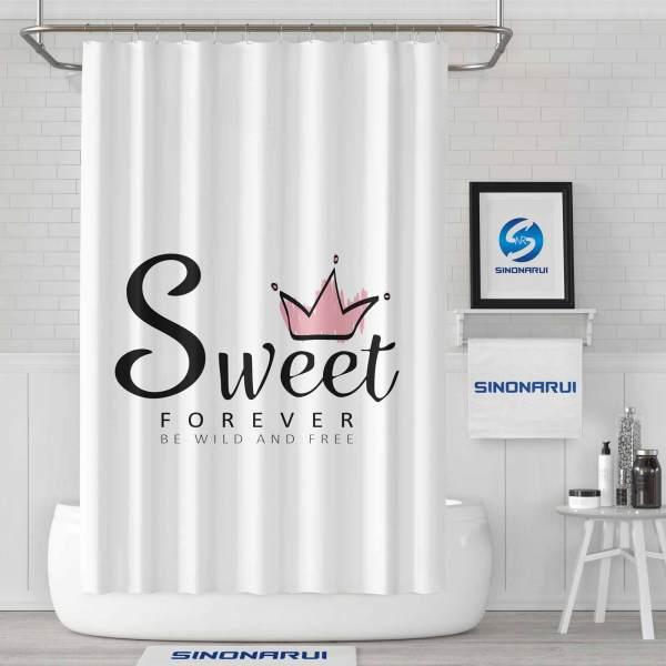 Sinonarui Sweet Design for Girls Mordern Shower Fashion Shower Curtain Home Decor