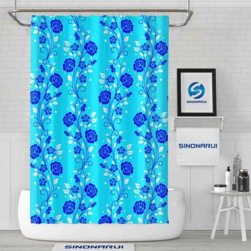 Sinonarui Flower Pattern Retro Style Shower Fashion Shower Curtain Home Decor