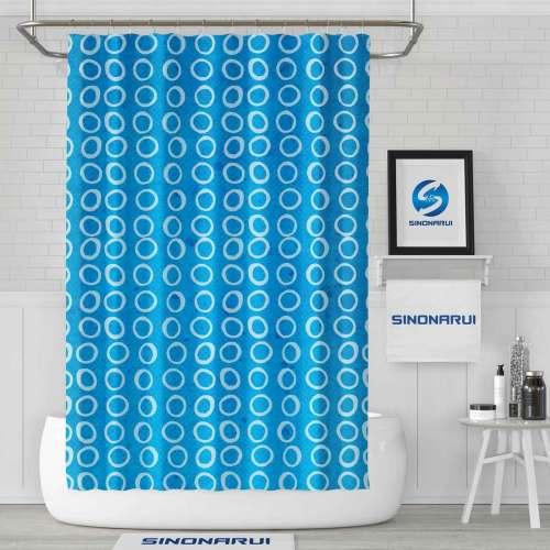 Sinonarui Geometric Pattern Mordern Shower Fashion Shower Curtain Home Decor
