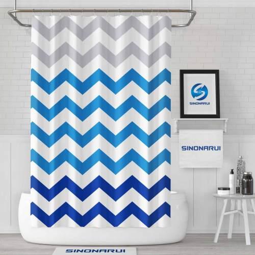 Sinonarui Geometric Curve Mordern Shower Fashion Shower Curtain Home Decor