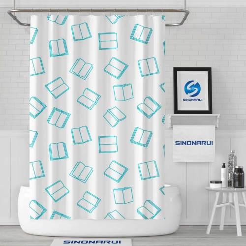Sinonarui Books Mordern Shower Fashion Shower Curtain Home Decor