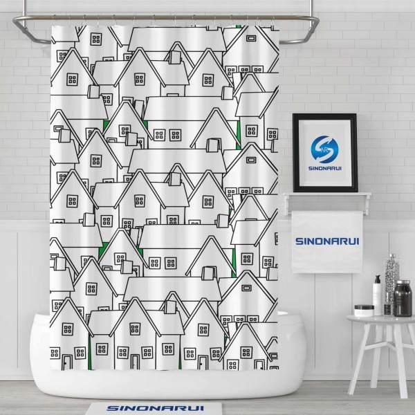 Sinonarui Cartoon Painting Mordern Shower Fashion Shower Curtain Home Decor