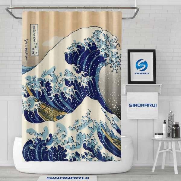 Sinonarui Japan Style Shower Fashion Shower Curtain Home Decor