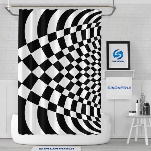 Sinonarui Psychedelic Pattern Shower Fashion Shower Curtain Home Decor