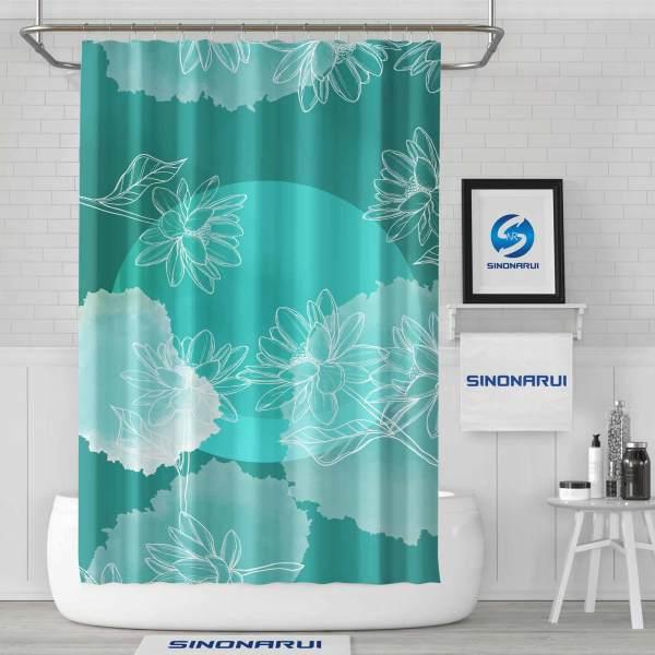 Sinonarui Fresh Color painting Pattern Shower Fashion Shower Curtain Home Decor