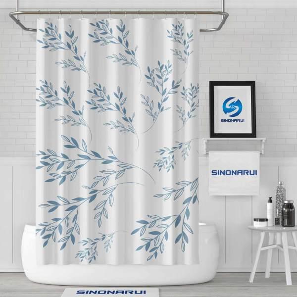 Sinonarui Plant Pattern Fresh style Shower Fashion Shower Curtain Home Decor
