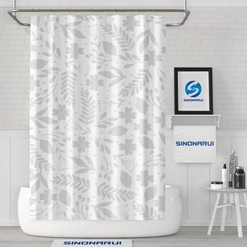 Sinonarui Plant Pattern Shower Fashion Shower Curtain Home Decor