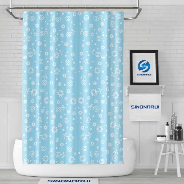 Sinonarui Small floral Pattern Shower Fashion Shower Curtain Home Decor