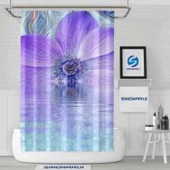 Sinonarui Big Flower Romantic Pattern Shower Fashion Shower Curtain Home Decor