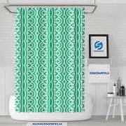 Sinonarui Green Pattern Shower Fashion Shower Curtain Home Decor