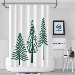 Sinonarui Small Pines Shower Fashion Shower Curtain Home Decor