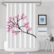 Sinonarui Plum Flower Chinese Style Shower Fashion Shower Curtain Home Decor