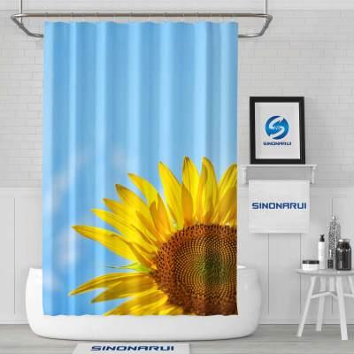 Sinonarui Sunflower Shower Fashion Shower Curtain Home Decor