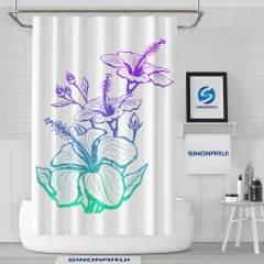 Sinonarui Colorful Flowers Shower Fashion Shower Curtain Home Decor