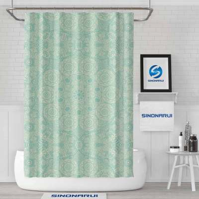 Sinonarui Indian Style Pattern Light Color Shower Fashion Shower Curtain Pink Home Decor