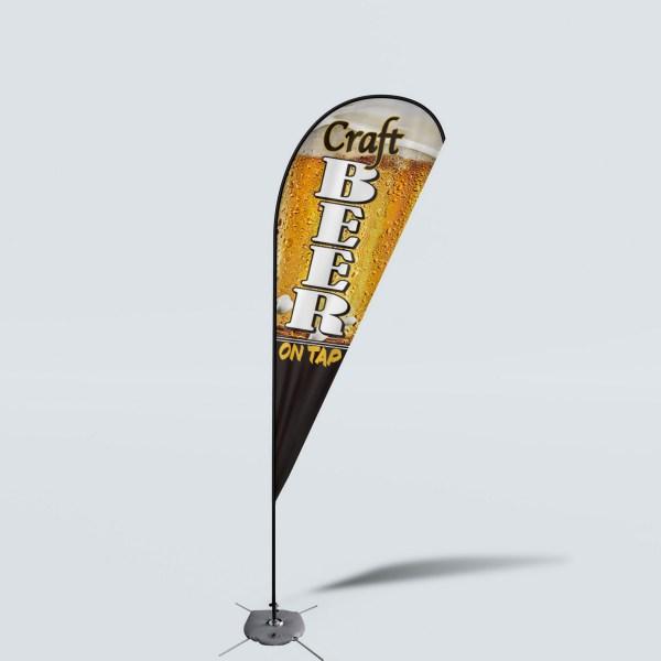 Sinonarui Craft Beer Shop Low Price Hot Selling Custom Pattern Beach Flags Teardrop Flags
