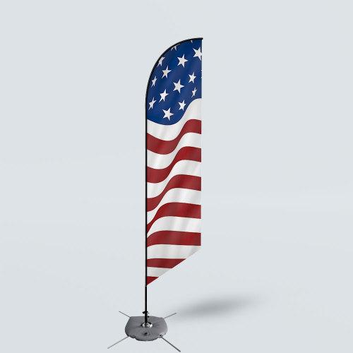 Sinonarui America Flag Low Price Hot Selling Custom Pattern Beach Flags Feather Flags