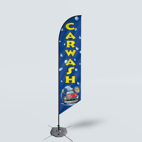 Sinonarui Car Wash Low Price Hot Selling Custom Pattern Beach Flags Feather Flags