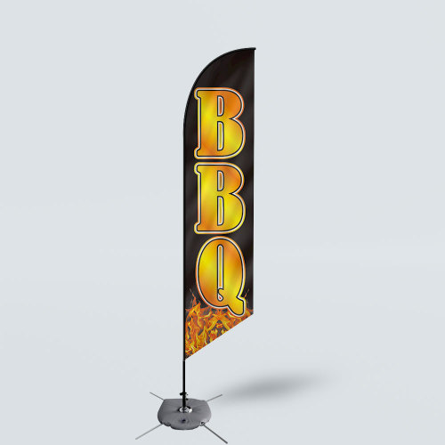 Sinonarui BBQ Low Price Hot Selling Custom Pattern Beach Flags Feather Flags