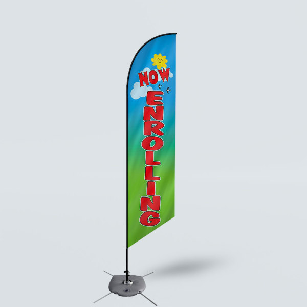 Sinonarui Now Enrolling Low Price Hot Selling Custom Pattern Beach Flags Feather Flags