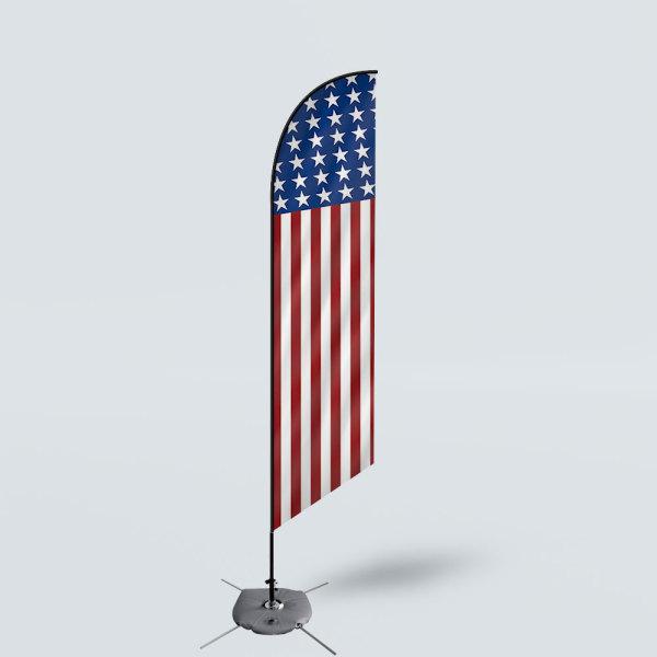 Sinonarui America Stars Low Price Hot Selling Custom Pattern Beach Flags Feather Flags