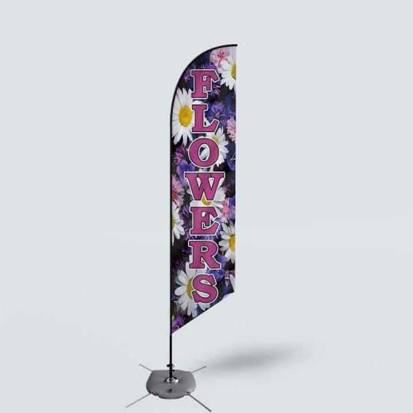 Sinonarui Flowers Low Price Hot Selling Custom Pattern Beach Flags Feather Flags