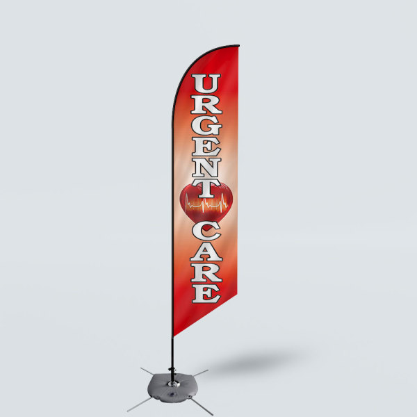 Sinonarui Urgent Care Low Price Hot Selling Custom Pattern Beach Flags Feather Flags