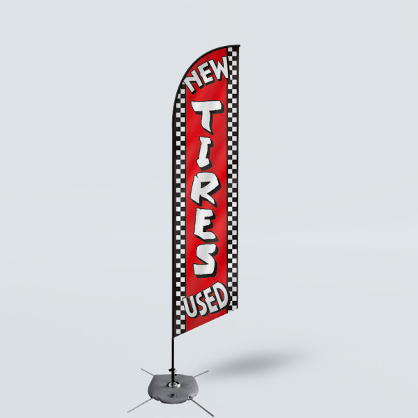 Sinonarui New Tires Used Low Price Hot Selling Custom Pattern Beach Flags Feather Flags