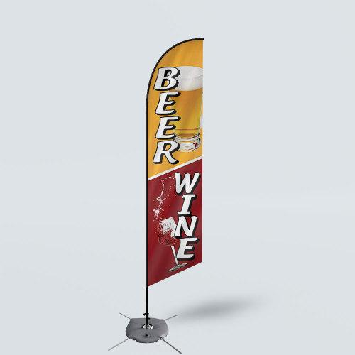 Sinonarui Beer Wine Low Price Hot Selling Custom Pattern Beach Flags Feather Flags