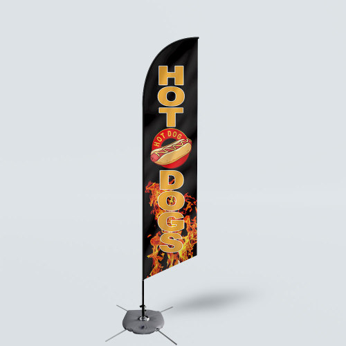Sinonarui Hot Dogs Low Price Hot Selling Custom Pattern Beach Flags Feather Flags