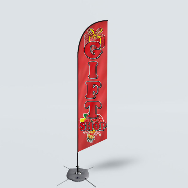 Sinonarui Gift Shop Low Price Hot Selling Custom Pattern Beach Flags Feather Flags