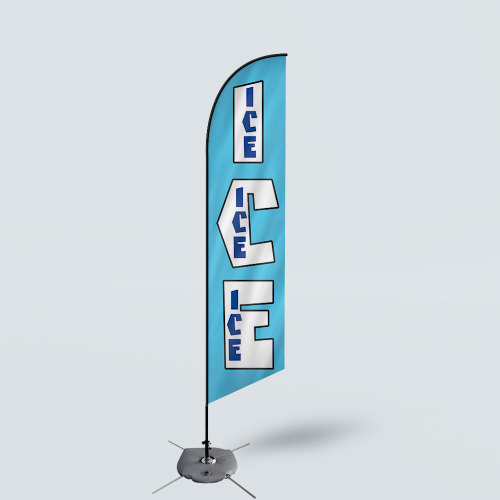 Sinonarui ICE Low Price Hot Selling Custom Pattern Beach Flags Feather Flags