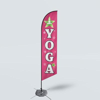 Sinonarui Yoga Low Price Hot Selling Custom Pattern Beach Flags Feather Flags
