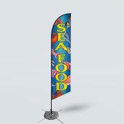 Sinonarui Sea Food Low Price Hot Selling Custom Pattern Beach Flags Feather Flags