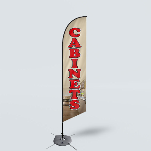 Sinonarui Cabinets Low Price Hot Selling Custom Pattern Beach Flags Feather Flags