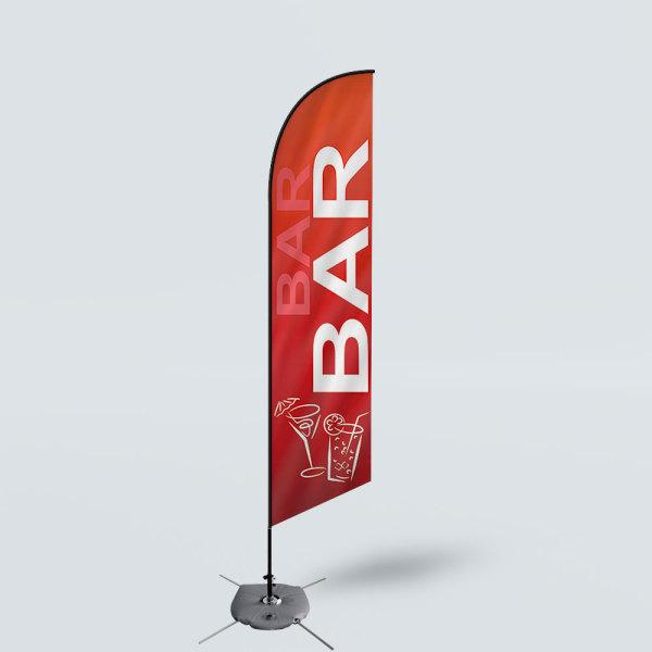 Sinonarui Bar Low Price Hot Selling Custom Pattern Beach Flags Feather Flags