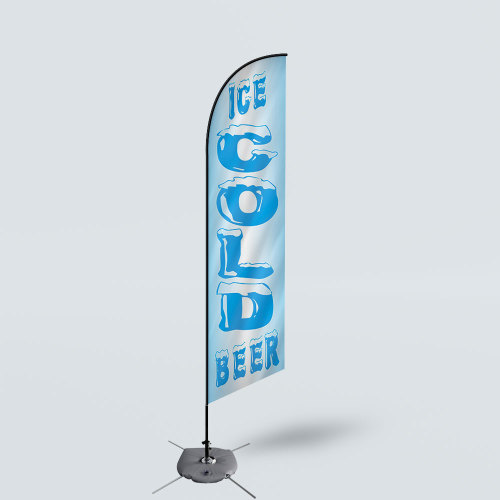 Sinonarui Ice Cold Beer Low Price Hot Selling Custom Pattern Beach Flags Feather Flags