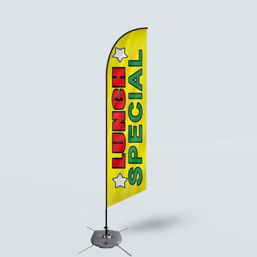 Sinonarui Lunch Special Low Price Hot Selling Custom Pattern Beach Flags Feather Flags