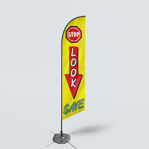 Sinonarui Stop Lock Save Low Price Hot Selling Custom Pattern Beach Flags Feather Flags
