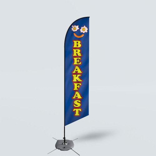 Sinonarui Breakfast Low Price Hot Selling Custom Pattern Beach Flags Feather Flags