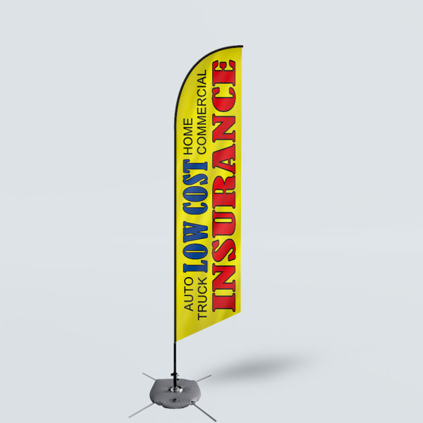 Sinonarui Low Cost Insurance Low Price Hot Selling Custom Pattern Beach Flags Feather Flags